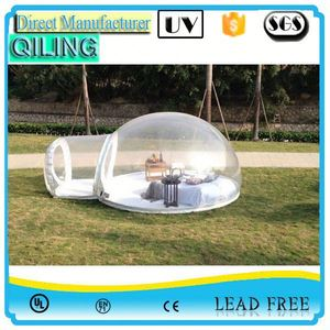 2017qiling china import fast air inflatable bubble tent for paintball for camping