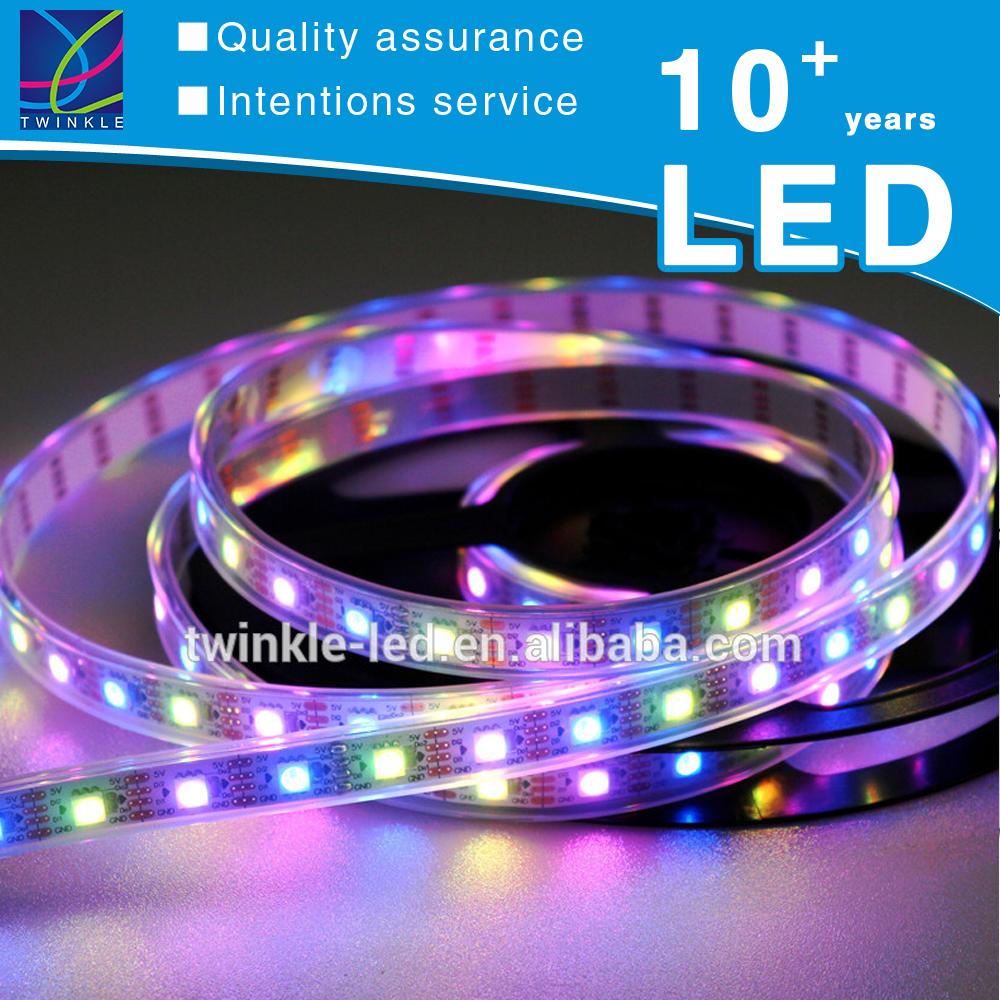 100m Rainbow Color Cct 12v 24v Dmx Ws2812b Ws2813 Small 60d Smd Programmable 5050 Addressable Rgbww Rgbw Rgb Led Light Strip