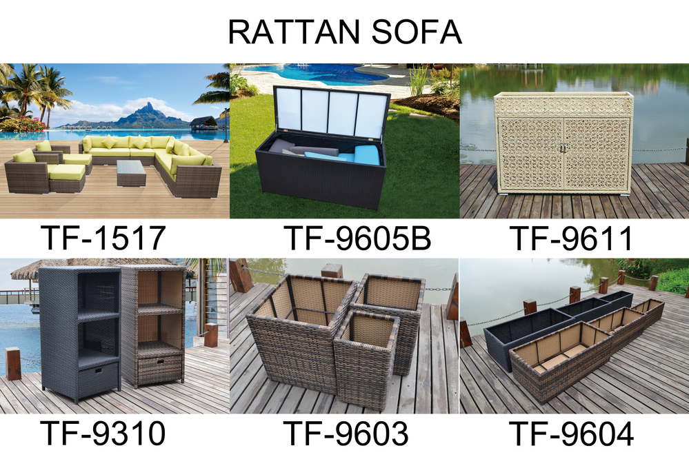 2017 hot sale sectio<em></em>nal rattan sofa white wicker outdoor garden patio furniture in blue cushions