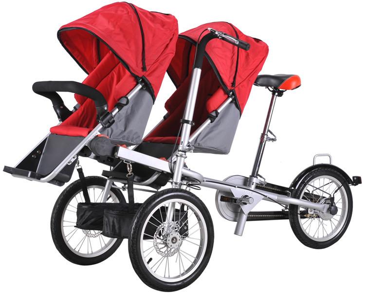 Hot sale mother baby tandem bike electric baby stroller Motorized baby stroller