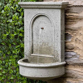 Stone Yard Water Feature Art Limestone Outdoor Decor Wall Hanging Fountain