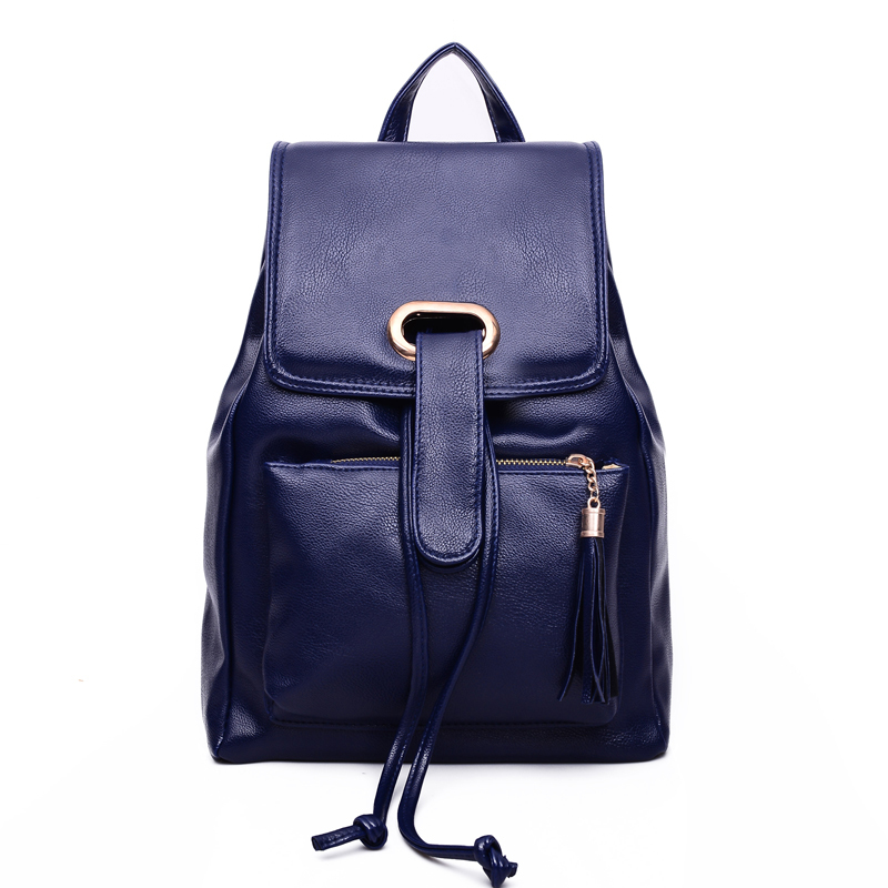 8a38e82a986 Get Quotations · School Backpacks Women Black Genuine Leather Backpack  Leather Backpack Schoolbag Backpacks For Teenage Girls