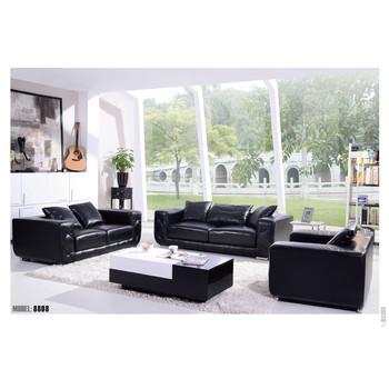 Mewah Ruang Tamu Sofa Kulit Set Dengan Warna Hitam Buy Sofa Kulit