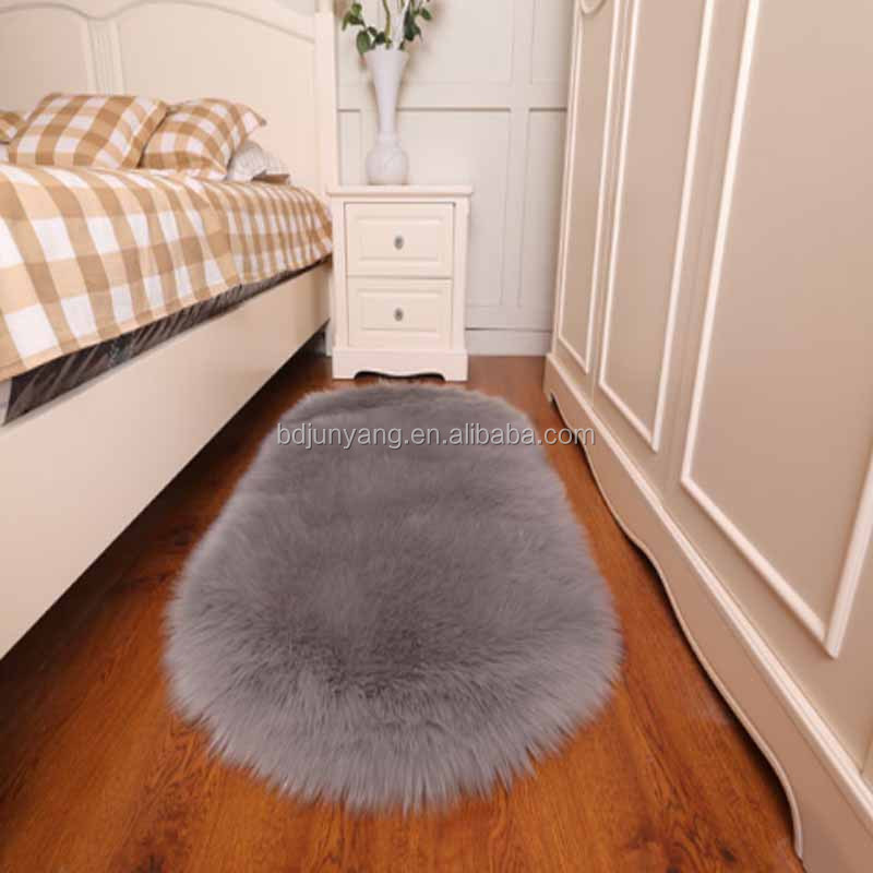 White polyester faux fur rug carpet decoration