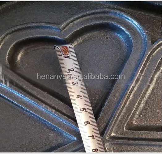 EG-5A Non-Sticky 5 Slice 1 Head Muffin Heart Shape Cake Sandwich  Ice Cream Maker Machine