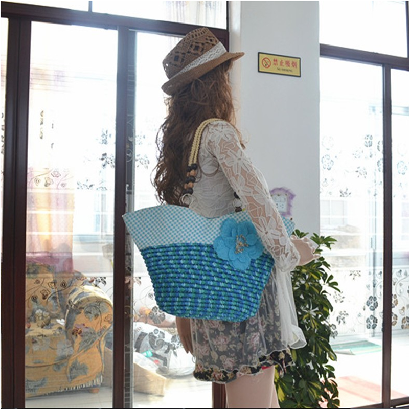 Malaysia styles handbag and tote bag style rope handle beach bag