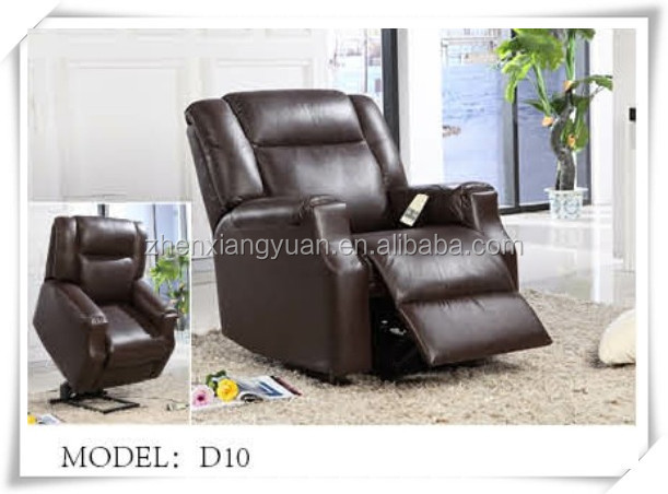 lazy boy dark brown leather electric lift recliner chair for old man - Lazy Boy Lift Chairs