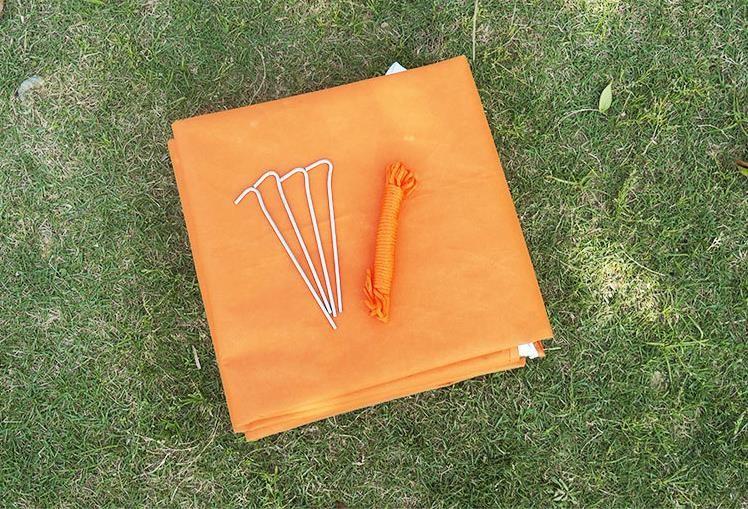 Notfall Überleben Camping Shelter Tarp Orange & Silber Mylar