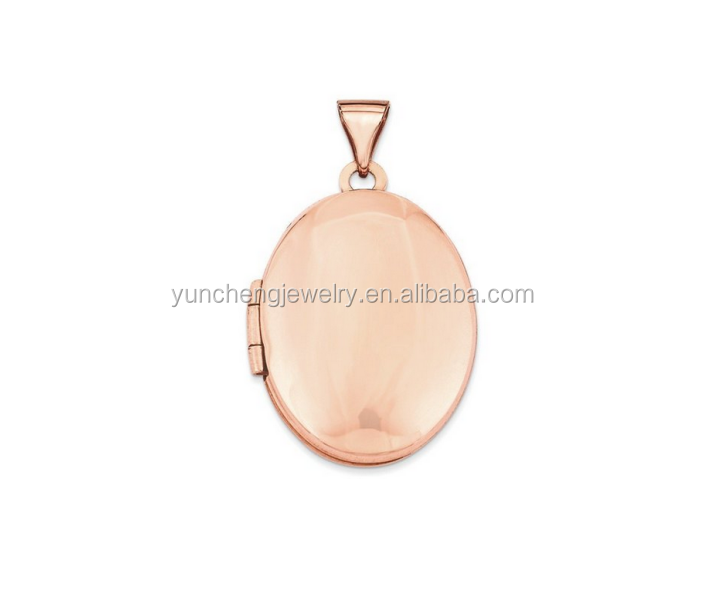 YCP7177 Rose Gold Plated 16mm Oval Locket