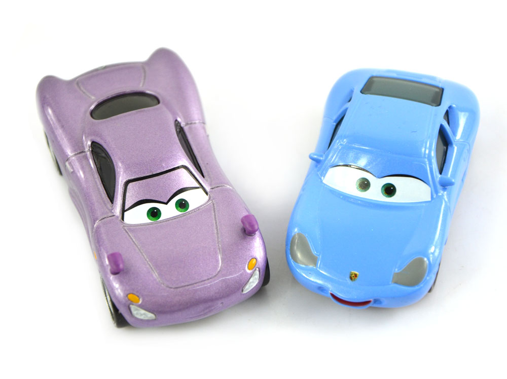 2Pcs Original Cars Pixar 2 Beauty Sally/Holley Metal Diecast Models Vehicles Kids Toys Car Toys For Children