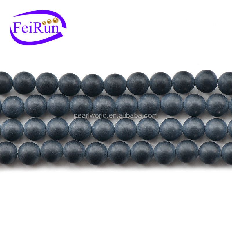 FEIRUN 6-12mm fashion new wholesale gemstone angels, matte agate beads, black agate cabochon