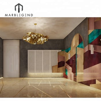 Contemporary Residential Luxury Chinese Marble Villa Interior Design