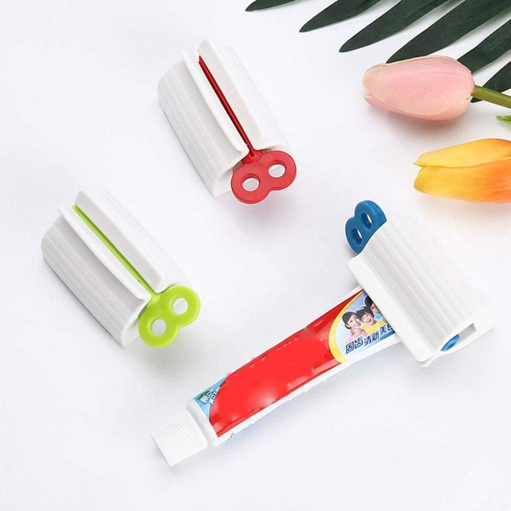 Rumas Rotating Switch Hand Toothpaste Dispenser, Portable Mini Toothpaste Squeezer Stand Holder for Kids Women Men (Random)