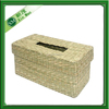 lettuce woven napkin basket with lid,paper towel arts basket
