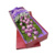 Custom printed logo high end cardboard cylinder long stem flower box