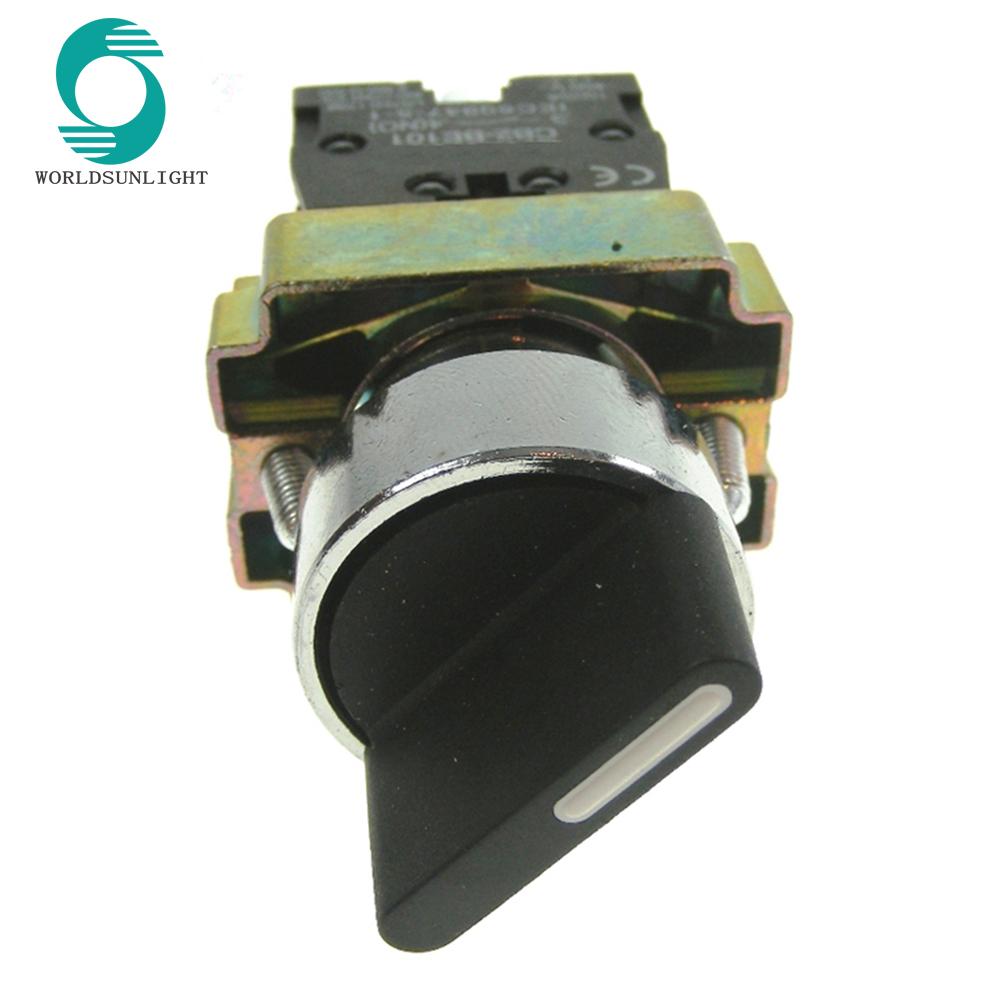 Interruptor de joystick moment/áneo Regrese el interruptor de palanca de mando moment/áneo 2NO 2 posiciones AC380V 5A HKA1-41Z02