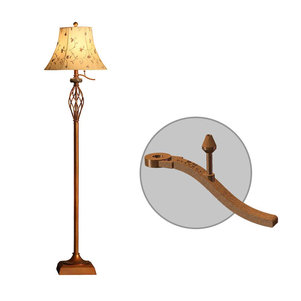 MGLDD Bedside Vertical Floor Lamp, Lampshade Optional, American Retro Floor Lamp, E27, 40W, Pedal/lever Switch, H: 160cm For Living Room Bedroom (Color : B, Size : Lever switch)