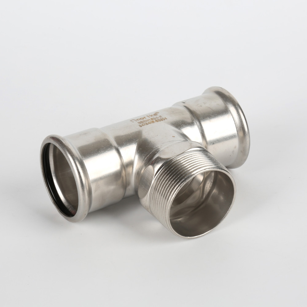 Stainless steel pipe press tee fittings exporter buy