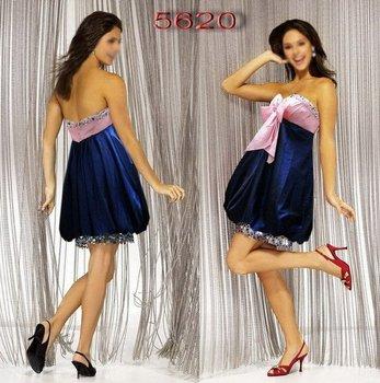 3ba4a3926 Rosa Y Azul Glamour Corto Del Partido Con Cuentas Vestido - Buy ...