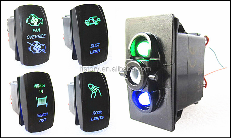 Carling Technologies Rocker Switch with double color LED lights