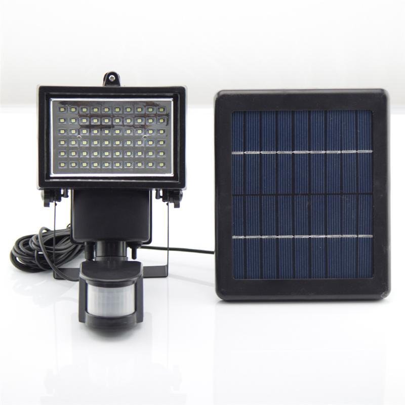 Solar Powered Motion Sensor Outdoor Security Flood Spot Light