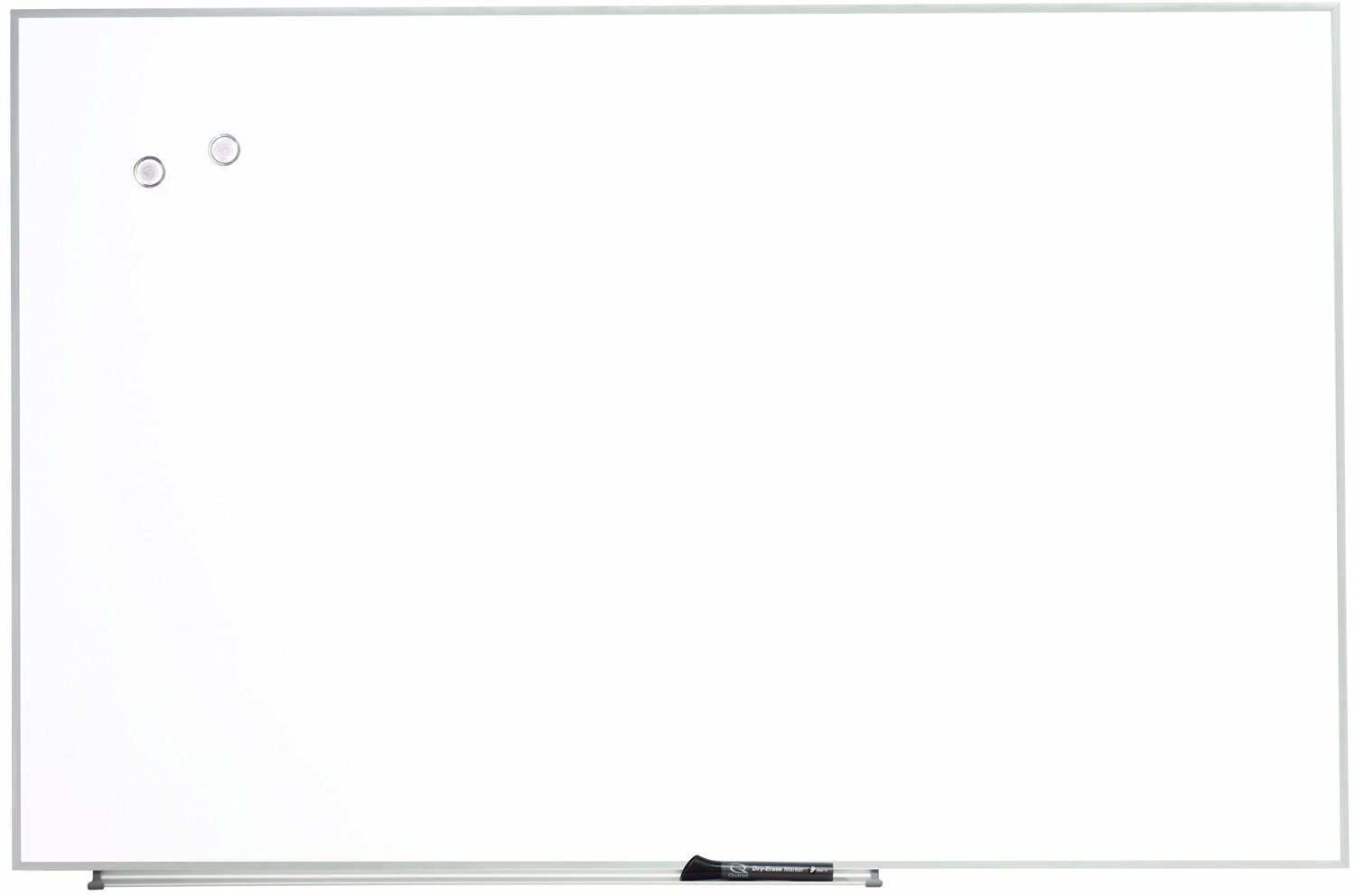 Quartet Products - Quartet - Magnetic Dry Erase Board, Painted Steel, 48 x 31, White, Aluminum Frame - Sold As 1 Each - Mixing, match and connect multiple boards to suit your meeting and workspace needs. - Hang vertically or horizontally with included wall mounting hardware. - Mount to cubicle