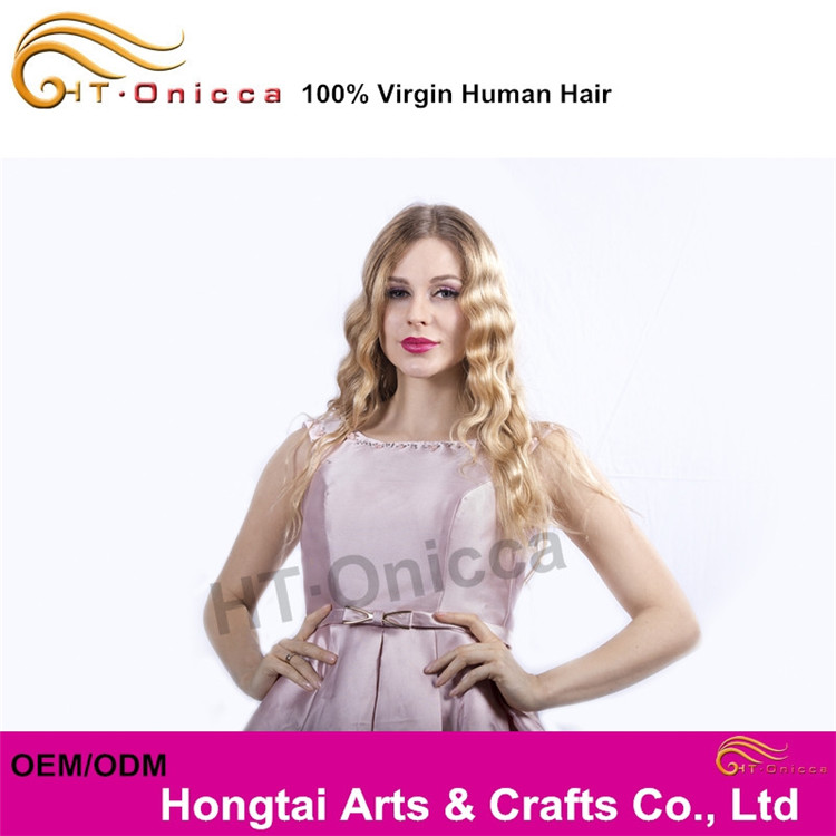 OEM/ODM Any New Golden Yellow Hair Color, HT Onicca 3Pcs/Lot Golden Perfect Hair
