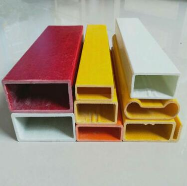 FRP Fiberglass Pultrusion Customized flat Pipe hollow slat beams rod stick flat board shelf from China factory ROCKPRO