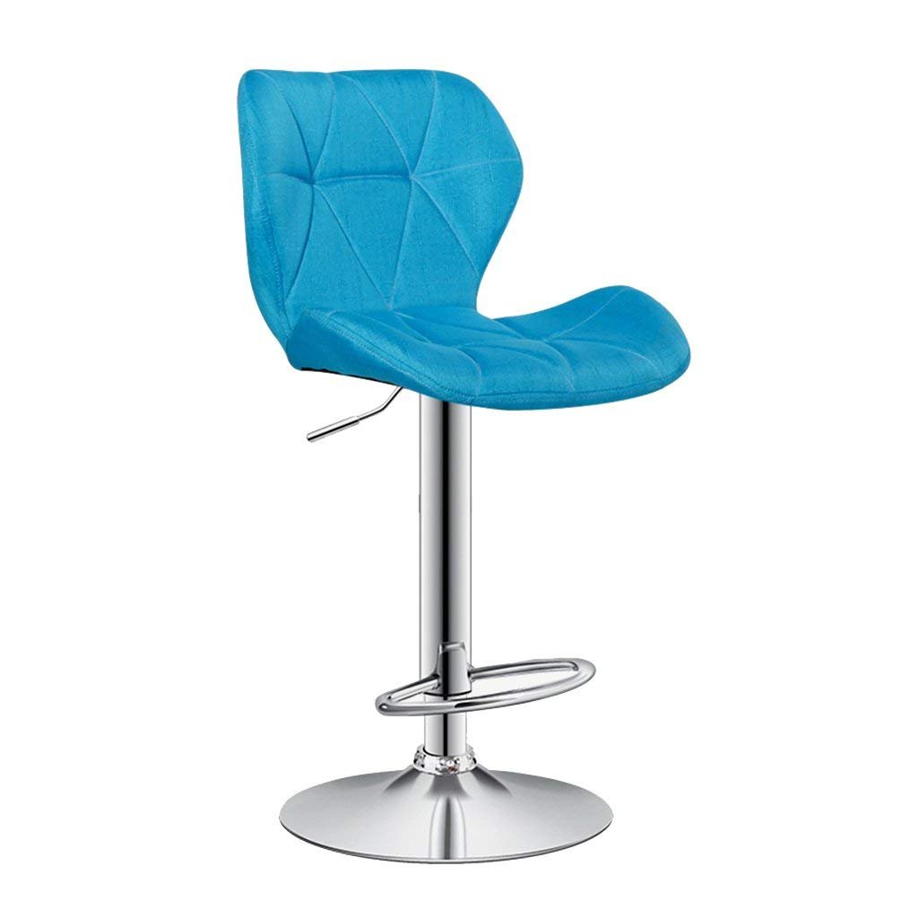 Wei Hong Home Office Chairs Lift Chairs High Chairs Swivel Chairs Fabric Chairs (Color : Blue, Size : 4238.560cm)