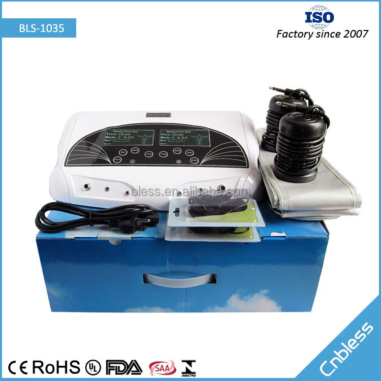 Bless-1035 Cell ionic detox foot bath equipment,ion cleanse foot detox machine