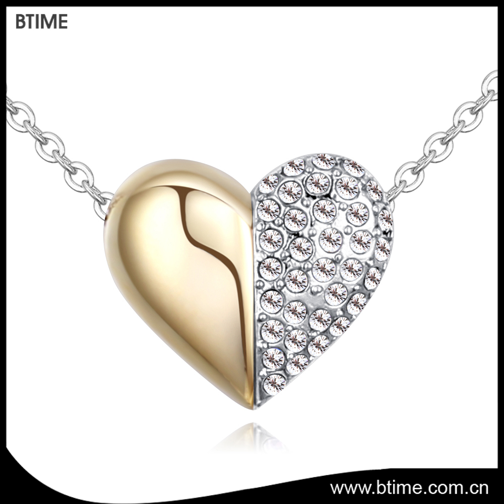 fa851f484f Rhinestone Heart Necklace, Rhinestone Heart Necklace Suppliers and  Manufacturers at Alibaba.com