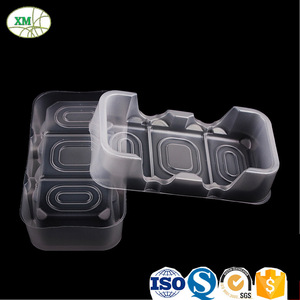 Packaging Blister Disposable Square Food Container Biscuit Plastic Tray