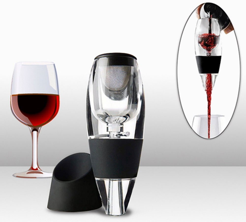 Amazon Hot sale Red Wine Aerator Filter Bottle Pourer Glass Wine Decanter in stock for sale