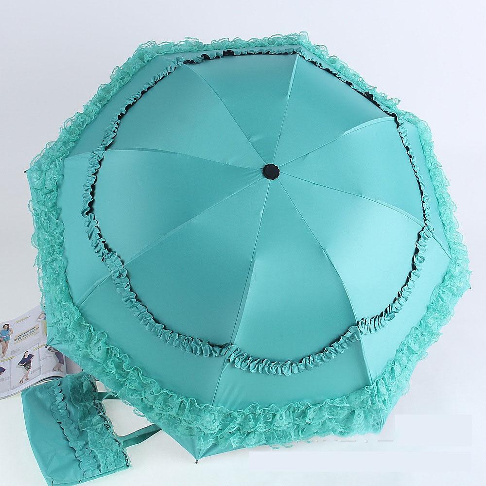 2 шт. красивая зонтик уф зонтик складной дождь зонт творческий зонтик кружева хит тройной мать женщины девушки специальные подарки