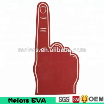 Melors OEM customized cheering New year supporting Red color cheering EVA foam hands/foam fingers