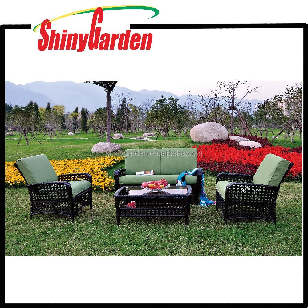 Home depot new design style high quality 4pcs rattan wicker sofa set furniture