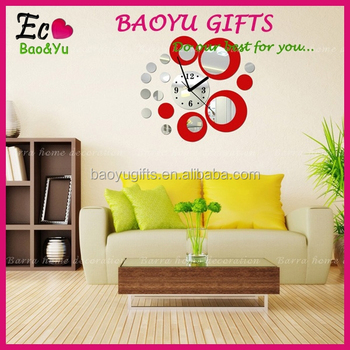 Latest Decorative Wall Mirror Clock Sticker For Home Decoration Clockwall Stickers Sitting Room Fashion Mirror Wall Stickers Buy Home Decorative