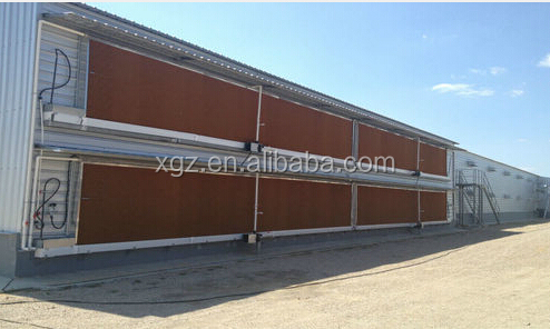 Prefab layer egg chicken cage/poultry farm house design