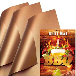 Dishwasher BBQ Grill Splatter Mat Copper Chef Grill And Bake Mats