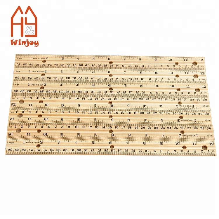 Wholesale 30cm Wooden Rulers School Student Measuring Ruler Office Rulers