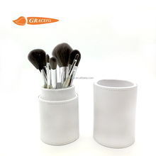 Beauty professional pearl white 8pcs set make up brush with tube custom logo make up brush sets