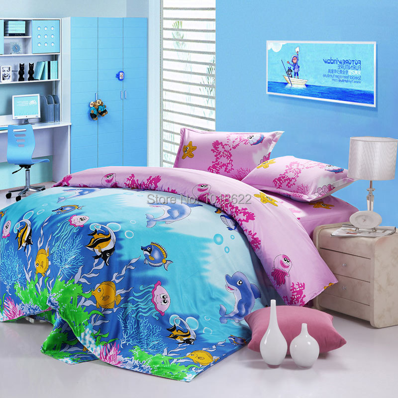 baby bedding cartoon cotton queen size 4pcs bedding set sheet bedclothes for. Black Bedroom Furniture Sets. Home Design Ideas