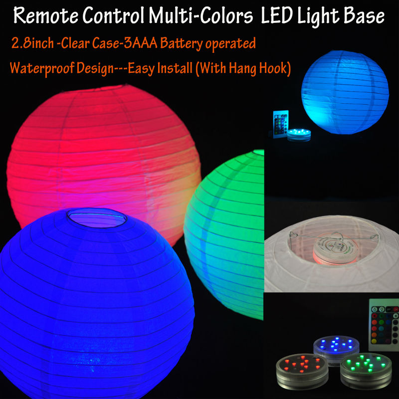 Super Bright Paper Lantern Light/rgb Remote Controlled Led Paper ...