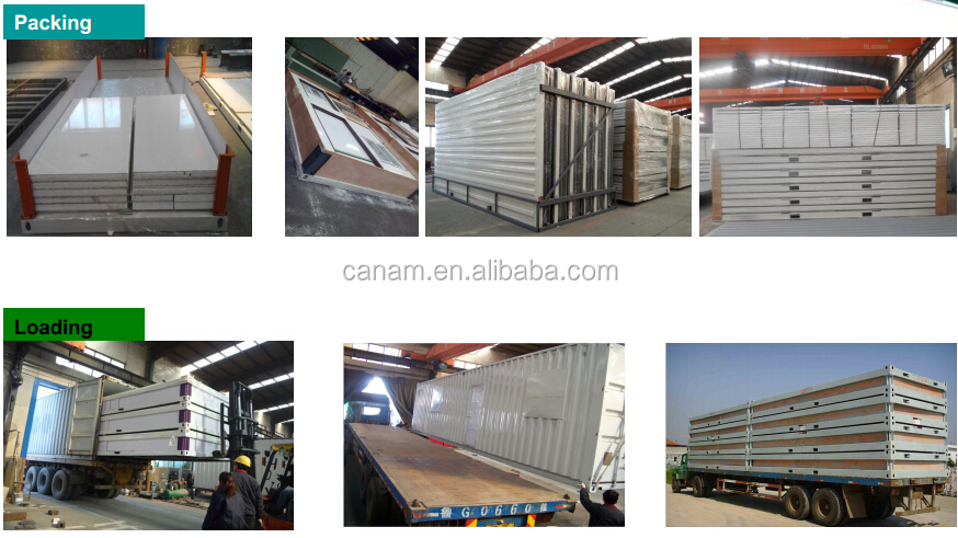 Sandwich panel two storey prefabricated container house