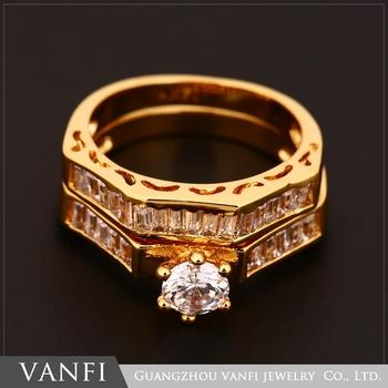 Latest Design Vogue Jewelry 18k Gold Plated Zircon Turkish Wedding