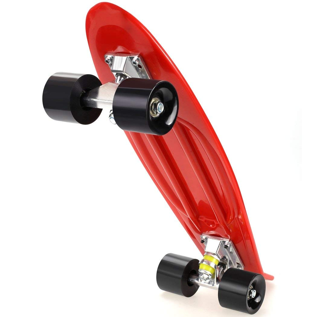 Kaluo Unisex 22 Inch Complete Deck Longboard Skateboard Crusier Mini Plastic Multiple Colors(US Stock)