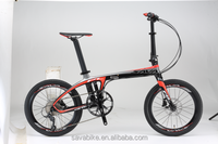 2016 SAVA BRAND Low price best carbon fiber folding bike/folding bike frame carbon