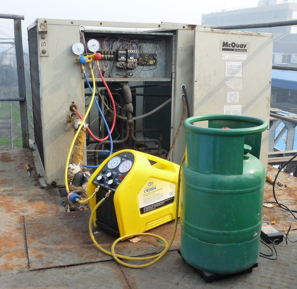 Full Automatic Ac Car R134a Portable Refrigerant Recovery