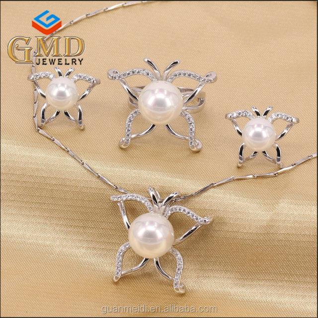 8816ed61d330 Joyería de moda las mujeres promocional encanto blanco hecho a mano collar  de perlas conjunto