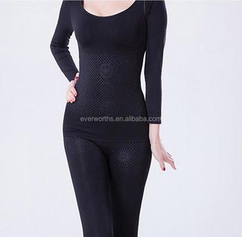 da226794d Far Infrared Seamless Set Shapewear Long Sleeve Top And Long Pants ...